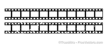 White and black film strips vector
