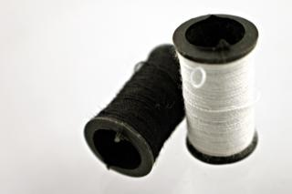 White and black thread, yarn