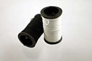 White and black thread