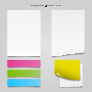 White and color paper textures