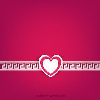 White and fuchsia Valentine's card