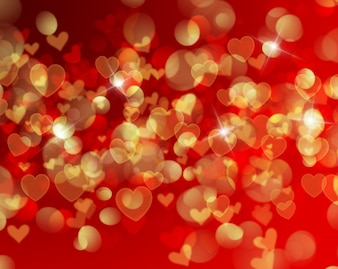 White and red hearts