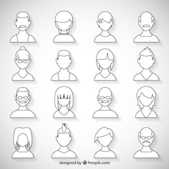 White avatars