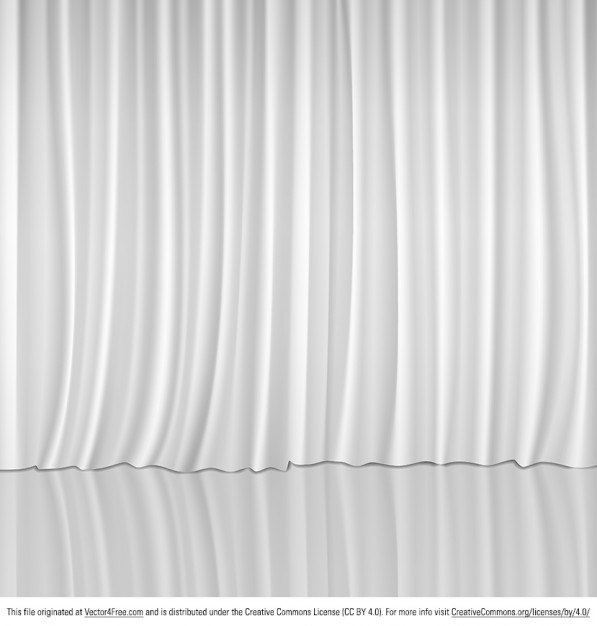 White curtains for show stage