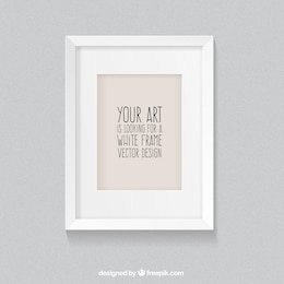 White frame in realistic style
