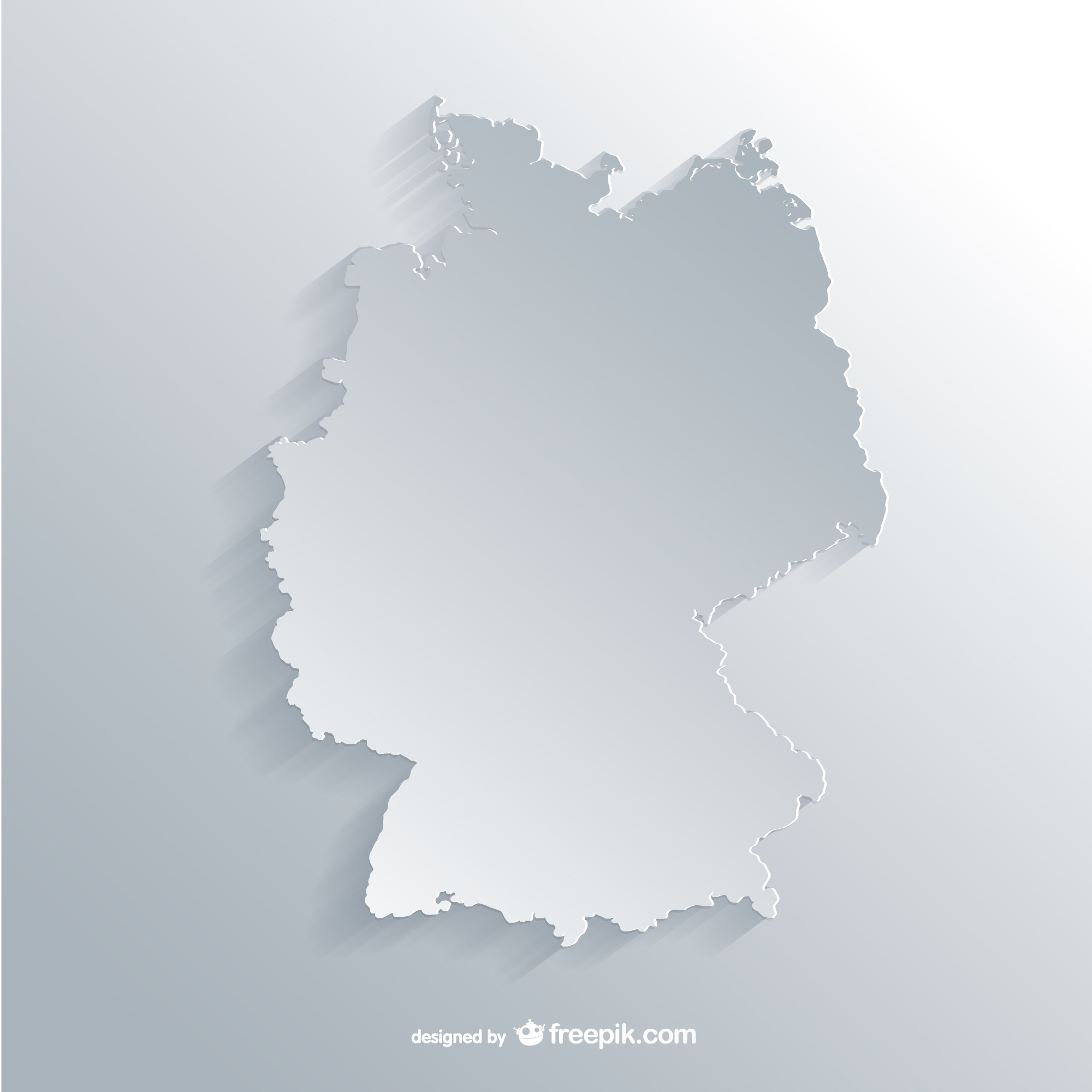 White Germany outline