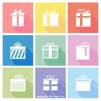 White gift icons