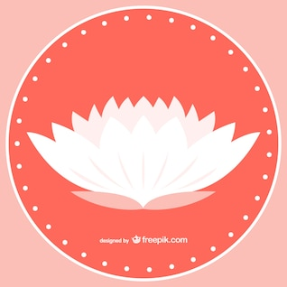 White lotus vector