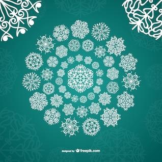 White ornamental snowflakes