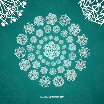White ornamental snowflakes