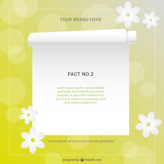 White page floral template