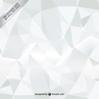 White polygons background