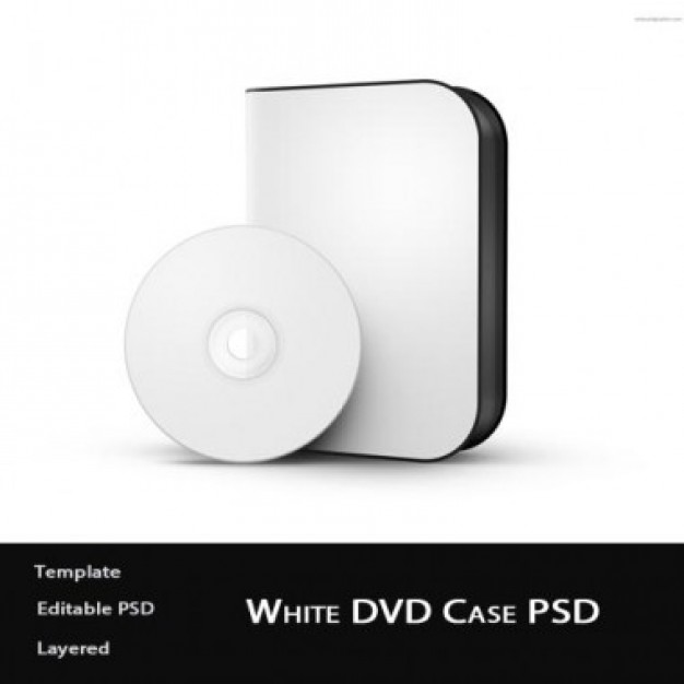 White software box with disc