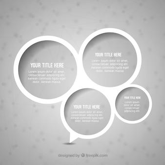 White speech bubbles background