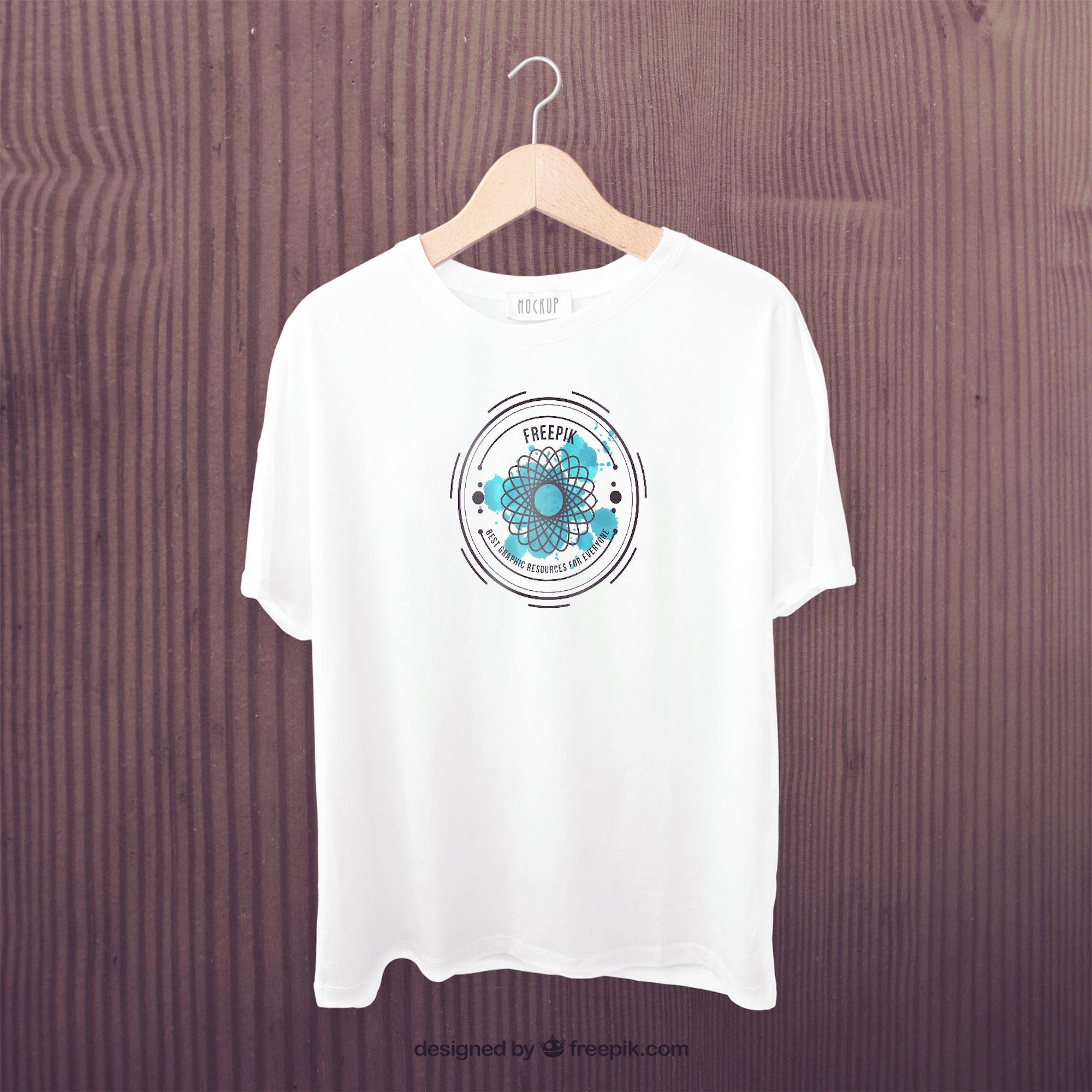 White t-shirt front mockup