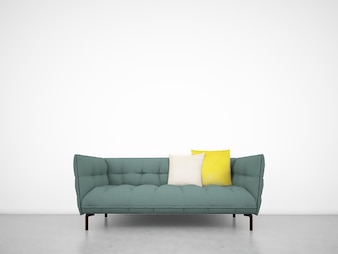 White Wall with Sofa