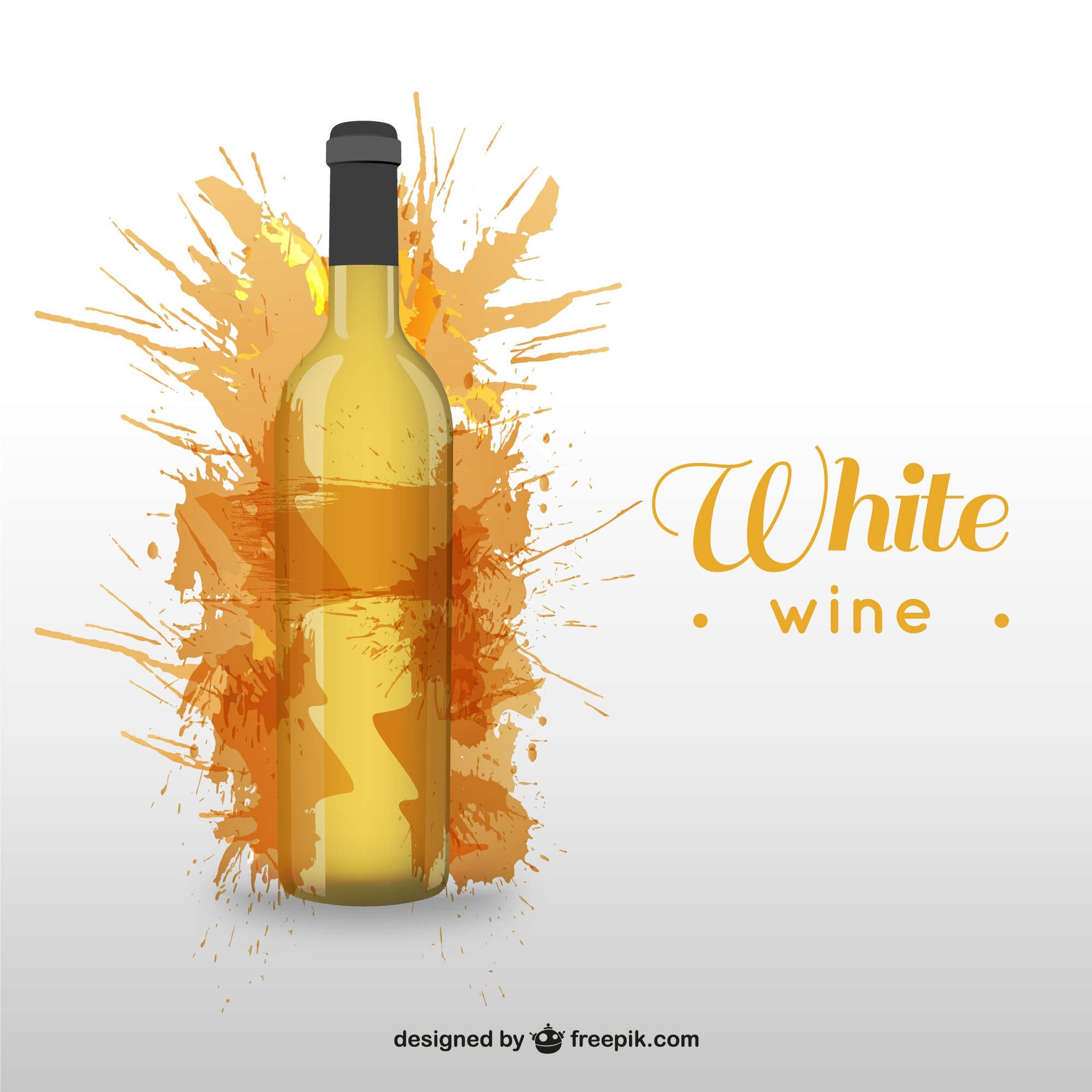 White wine bottle