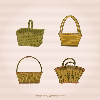 Wicker basket set