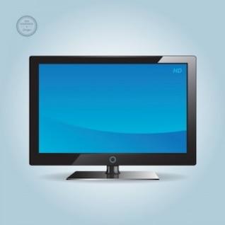 Wide blue screen HD TV vector