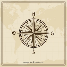 Wind rose in vintage style