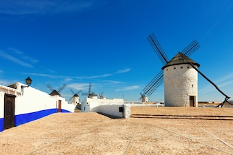 Windmills in Campo de Criptana.  Spain
