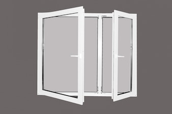 Window frame with grey background