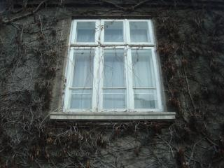 window on an old building
