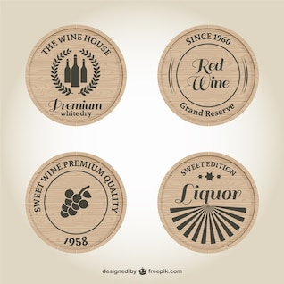 Wine and liquor labels