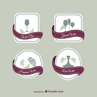Wine elegant labels