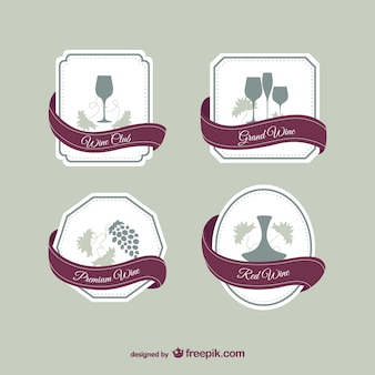 Wine elegant labels