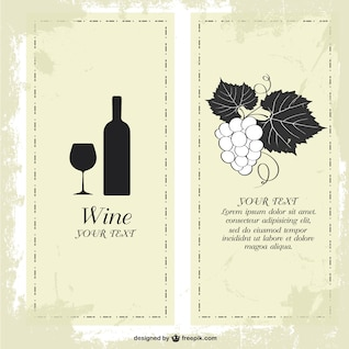 Wine menu free template design