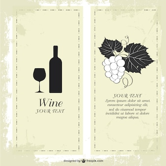Wine menu free template design