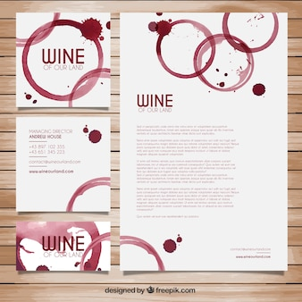 Wine stains stationery