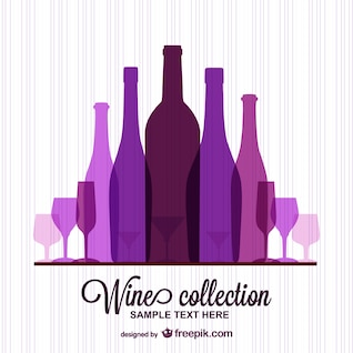Wine template free vector