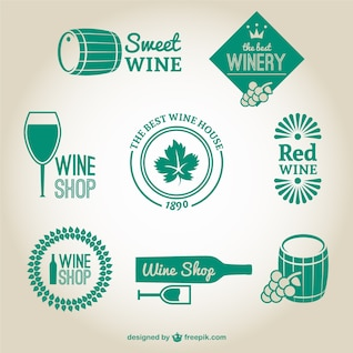 Winery and wine shop logos