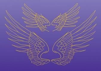 Wings Vector Drawing