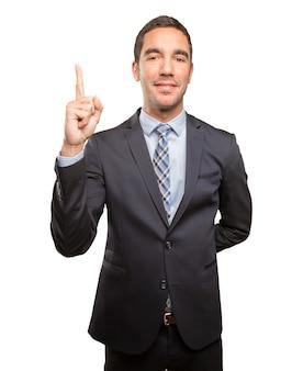 Winner young businessman