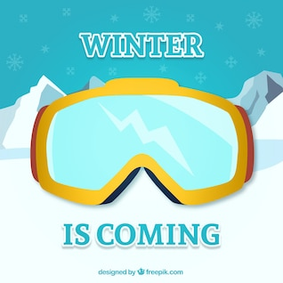 Winter is coming vector with goggles