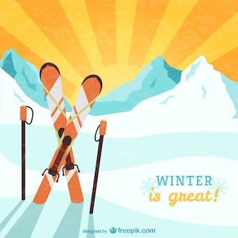Winter is great vector