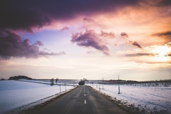 Winter Road Landscape
