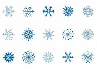 Winter snowflakes set vector illustration