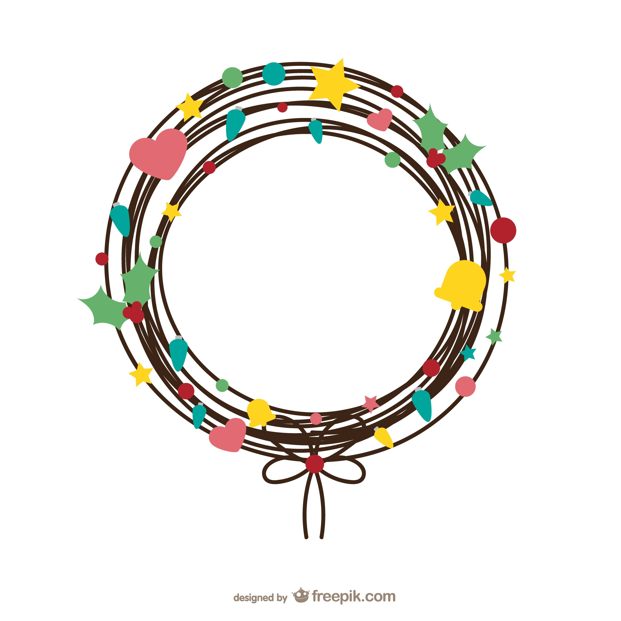 Wire wreath vector