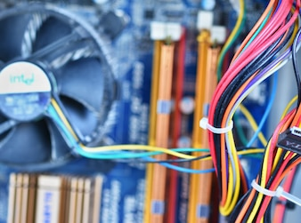 Wires in motherboard