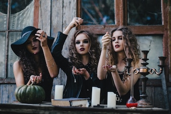Witches doing a ritual