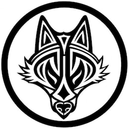 Wolf head in tribal style