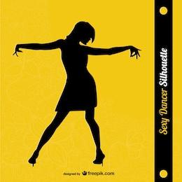 Woman dancer silhouette design