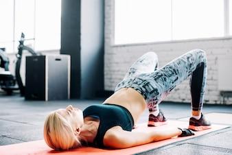 Woman lifting hips