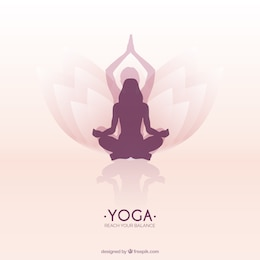 Woman meditating in a lotus yoga position