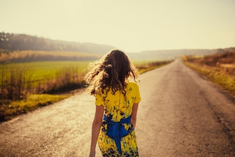 Woman on a back road