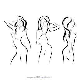 Woman outlines